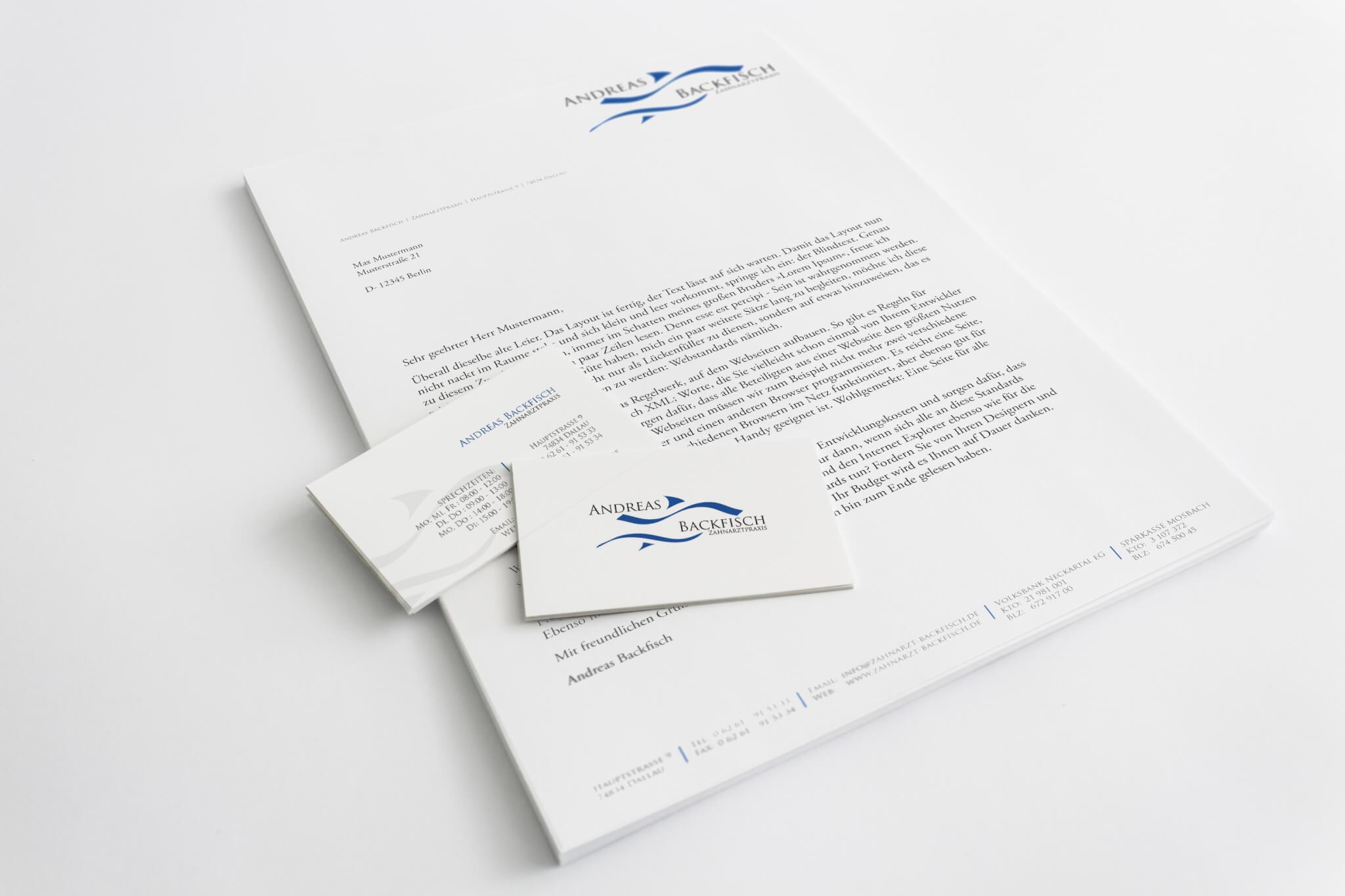Zahnarzt Backfisch Kleinwerkstatt Freelance Mediadesign