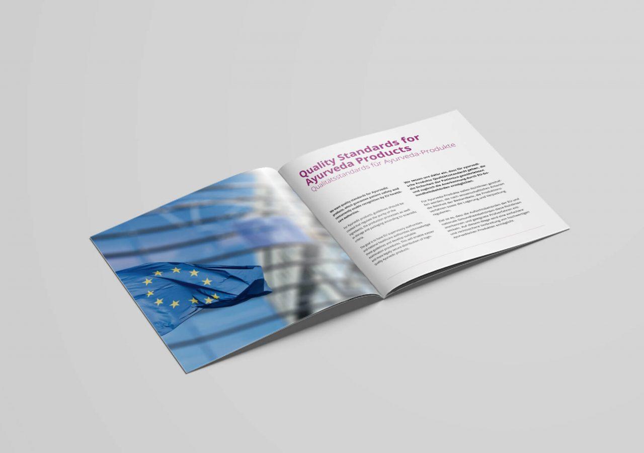 Innenseiten der Image-Broschüre der european ayurveda association (EUAA)