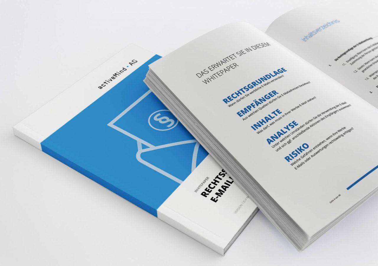 Cover und Innenseiten des Whitepapers der activeMind AG