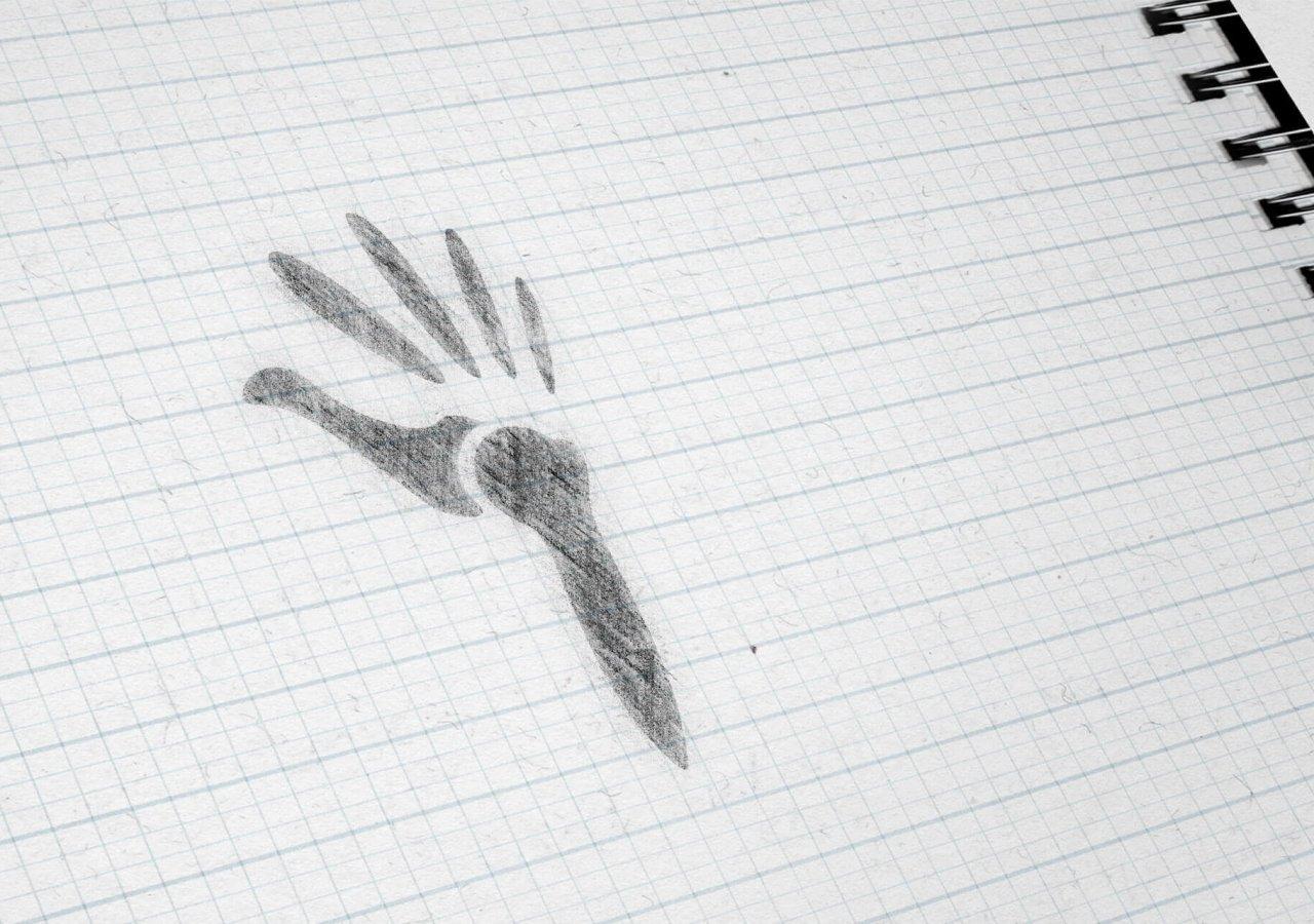 Skizze des neuen Logos der Praxis Orthopädie Charlottenburg