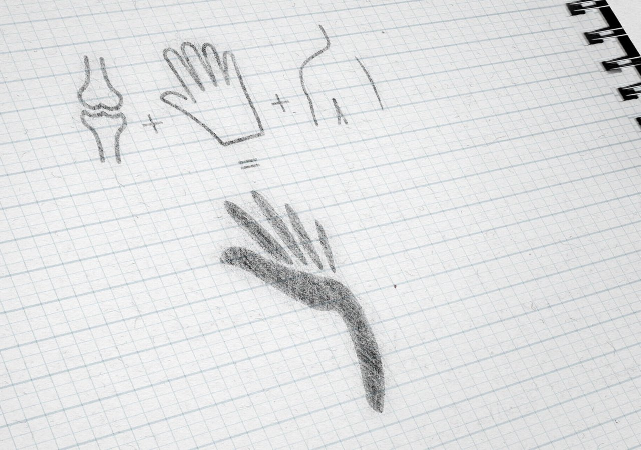 Konzeptstudie des neuen Logos der Praxis Orthopädie Charlottenburg