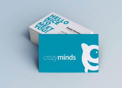 Crazyminds Visitenkarten Kleinwerkstatt Freelance