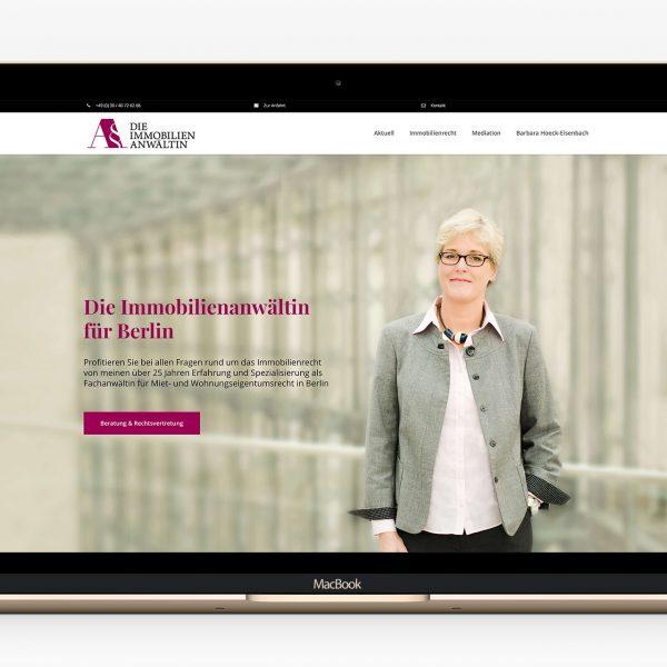 Die Immobilienanwältin Webdesign