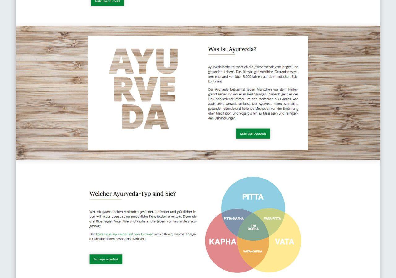 Startseite der Euroved GmbH
